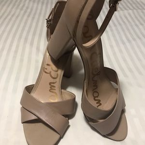 Sam Edelman Tan Ankle Strap Heels
